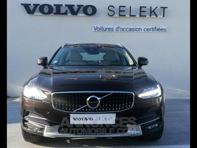 Volvo V90 D5 AWD 235ch Luxe Geartronic Marron Métali Occasion - 2