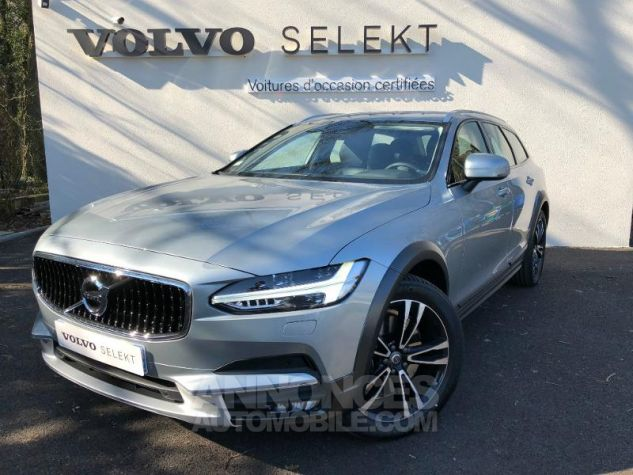 Volvo V90 D5 AWD 235ch Pro Geartronic 477- Argent Electrique Occasion - 0