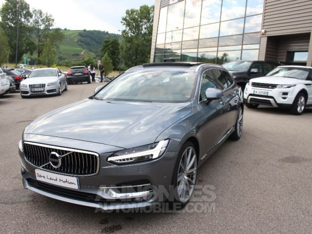 Volvo V90 II D5 AWD 235 INSCRIPTION LUXE GEARTRONIC 8 GRIS Occasion - 1