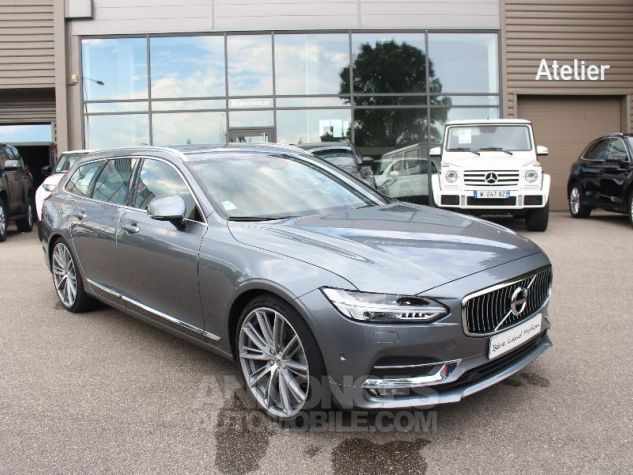Volvo V90 II D5 AWD 235 INSCRIPTION LUXE GEARTRONIC 8 GRIS Occasion - 3
