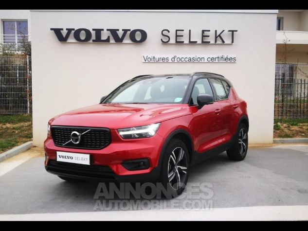Volvo XC40 D4 AdBlue AWD 190ch R-Design Geartronic 8 Rouge Métal Occasion - 0