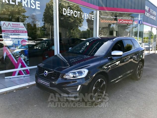Volvo XC60 D4 181CH R-DESIGN GEARTRONIC Gris Fonce Occasion - 0