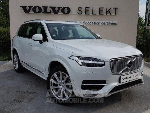 Volvo XC90 D5 AdBlue AWD 235ch Inscription Luxe Geartronic 7 places BLAN CRISTAL Occasion - 0
