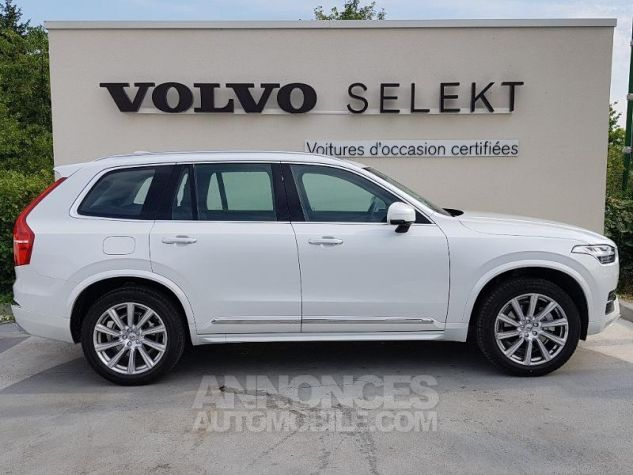 Volvo XC90 D5 AdBlue AWD 235ch Inscription Luxe Geartronic 7 places BLAN CRISTAL Occasion - 16