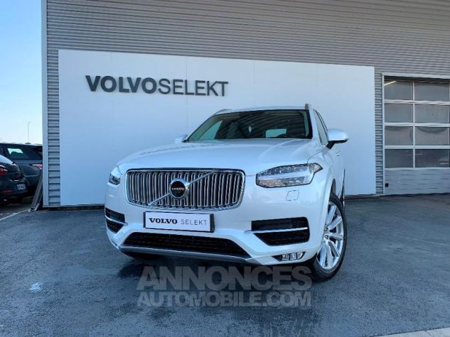 Volvo XC90 D5 AdBlue AWD 235ch Inscription Luxe Geartronic 7 places Blanc Cristal Occasion - 0