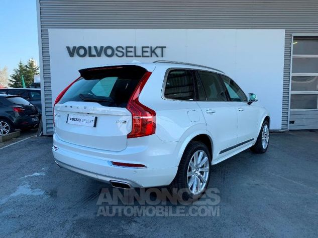 Volvo XC90 D5 AdBlue AWD 235ch Inscription Luxe Geartronic 7 places Blanc Cristal Occasion - 1