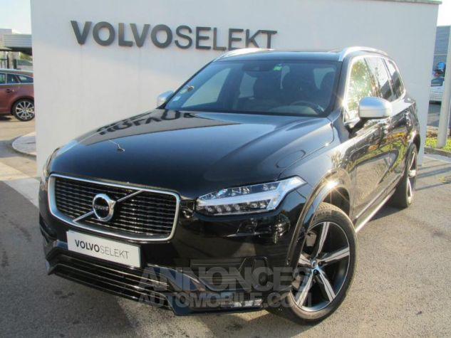 Volvo XC90 D5 AWD 225ch R-Design Geartronic 7 places Noir Onyx Occasion - 0