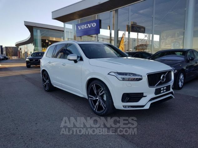 Volvo XC90 D5 AWD 235ch R-Design Geartronic 7 places Blanc Glace Neuf - 0