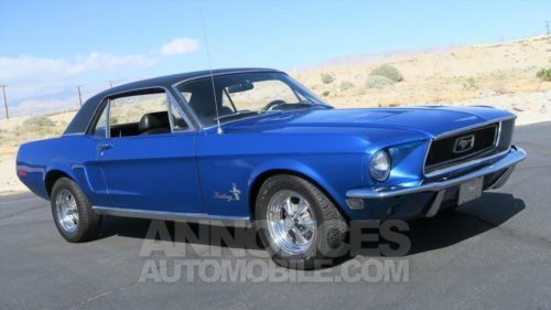 ford mustang 1968 bleu occasion paris 75 paris n 3928881 annonces automobile. Black Bedroom Furniture Sets. Home Design Ideas