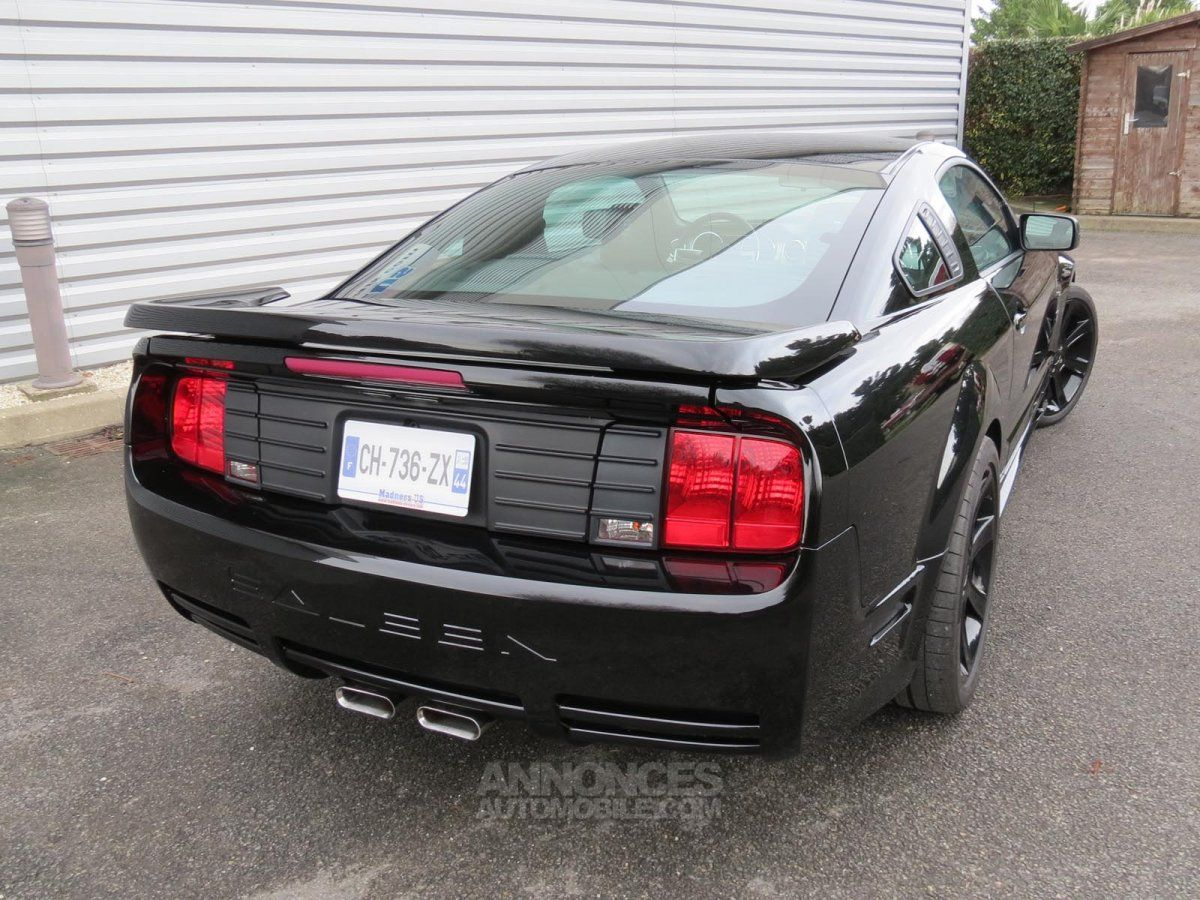 ford mustang saleen s281 supercharged 2006 noire occasion. Black Bedroom Furniture Sets. Home Design Ideas