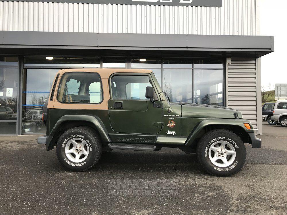 jeep wrangler tj 4 l 177 cv sahara vert fonc occasion monistrol sur loire 43 haute loire. Black Bedroom Furniture Sets. Home Design Ideas