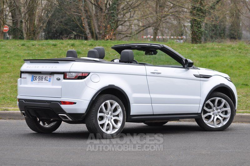 land rover range rover evoque cabriolet td4 180 hse dynamique fuji white occasion paris 75. Black Bedroom Furniture Sets. Home Design Ideas