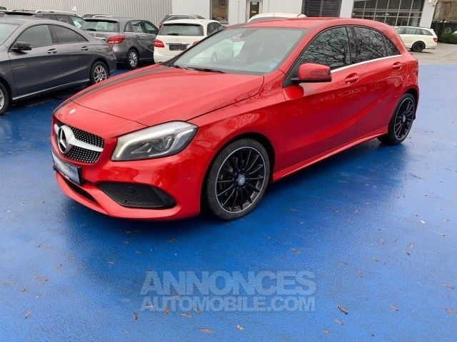 mercedes classe a 200d pack amg line rouge m occasion. Black Bedroom Furniture Sets. Home Design Ideas