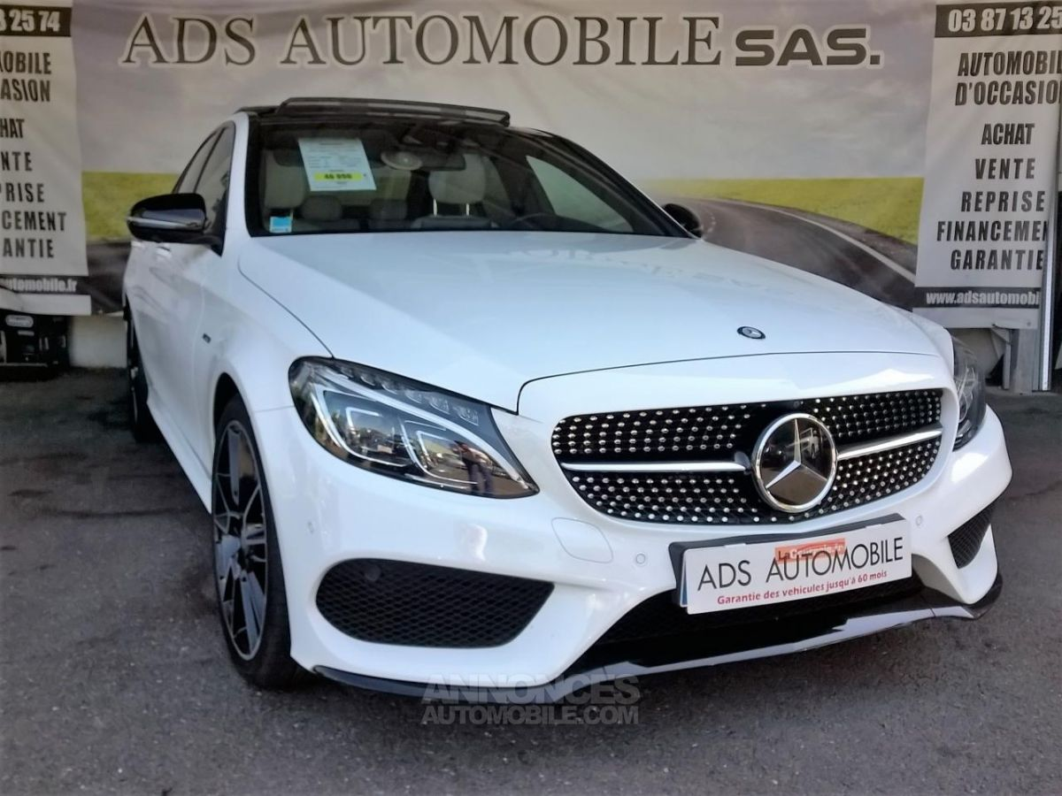 mercedes classe c 450 amg 4matic 7g tronic a blanc occasion stiring wendel moselle 57 n 4006052. Black Bedroom Furniture Sets. Home Design Ideas