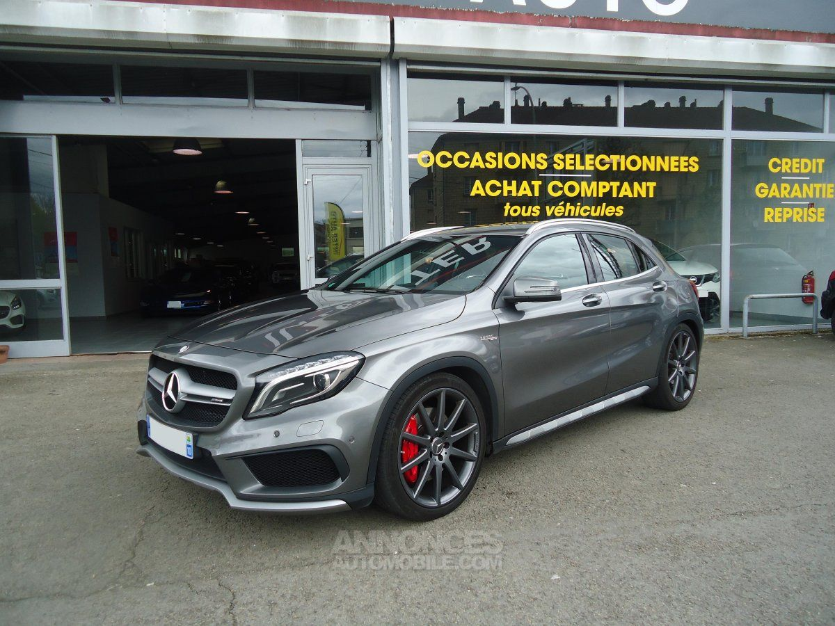 mercedes classe gla 45 amg 4matic bva7 gris montagne occasion cassis 13 bouches du rhone n. Black Bedroom Furniture Sets. Home Design Ideas