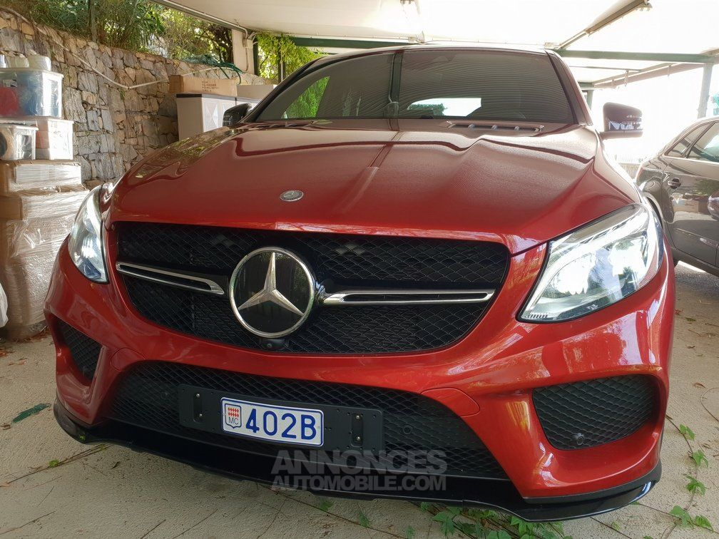 mercedes gle coup 450 amg rouge jacinthe peinture desig occasion monaco 98 monaco n. Black Bedroom Furniture Sets. Home Design Ideas