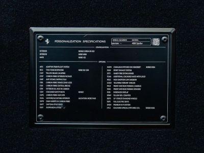 Ferrari 488 Spider 3.9 V8 670 ch premiere main Malus payé - <small></small> 279.990 € <small>TTC</small> - #38