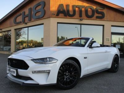 Ford Mustang V8 5.0 GT CABRIOLET pack premium phase 2 450ch cabriolet 12900kms 2018 - <small></small> 52.900 € <small>TTC</small> - #1