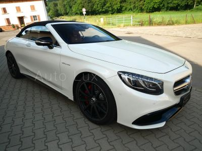 Mercedes Classe S S 63 AMG 4MATIC Cabriolet, Pack Exclusif, Phares Swarovski, Distronic, Caméra 360°, Affichage tête haute - <small></small> 115.900 € <small>TTC</small>