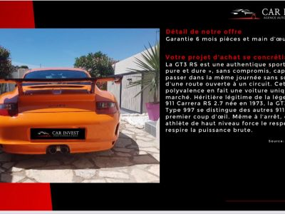Porsche 911 type 997 gt3 rs tat exceptionnel1 - <small></small> 129.900 € <small>TTC</small> - #5