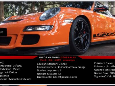 Porsche 911 type 997 gt3 rs tat exceptionnel1 - <small></small> 129.900 € <small>TTC</small> - #6