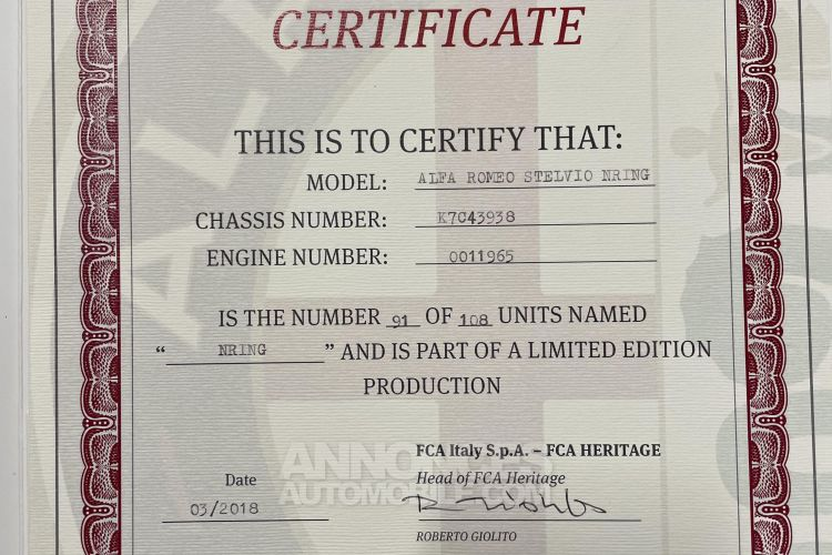 Alfa Romeo Stelvio V6 510 CH NRING 2,9 l V6 Bi-Turbo 510 ch NRING - Prix sur Demande - #40