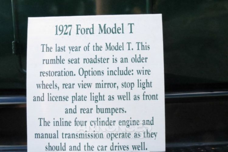 Ford Model T 4 Cylinder - <small></small> 24.436 € <small>TTC</small> - #8