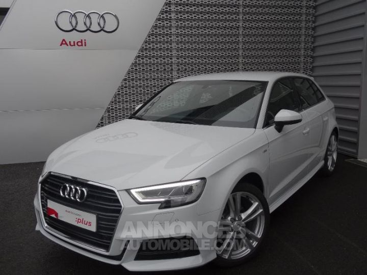 audi a3 sportback 35 tfsi 150ch cod s line s tronic 7 blanc glacier occasion nogent le phaye. Black Bedroom Furniture Sets. Home Design Ideas