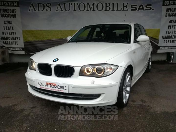 BMW Série 1 118D 143 CH Confort Blanc Occasion - 3