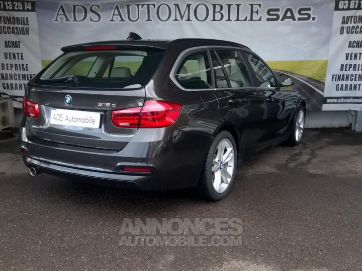 BMW Série 3 Touring 318D 150 CH Techno Design A Marron Occasion - 2