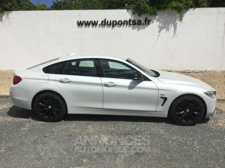 BMW Série 4 Gran Coupe 420dA 184ch Sport BLANC Occasion - 9