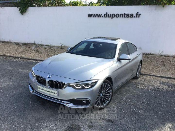 BMW Série 4 Gran Coupe 420dA 190ch Luxury GRIS C Occasion - 1