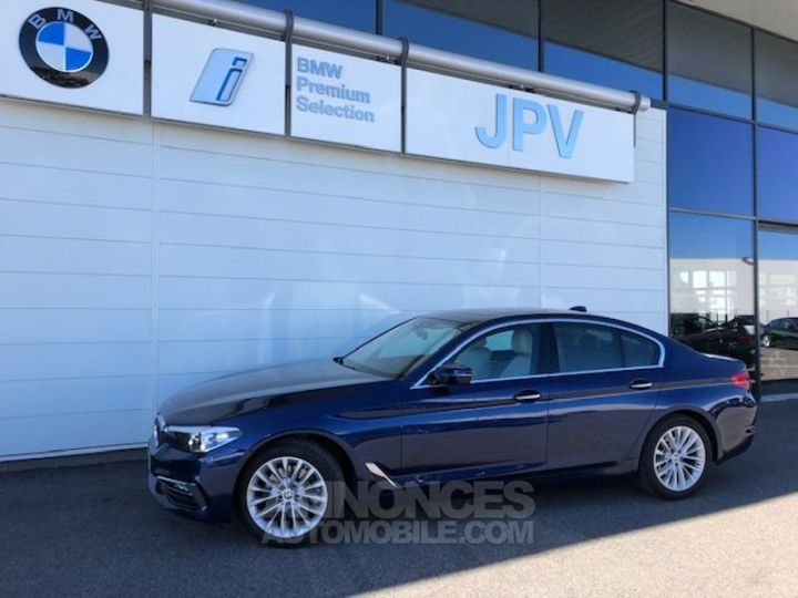 BMW Série 5 520dA xDrive 190ch Luxury Mediterranblau metallise Occasion - 1