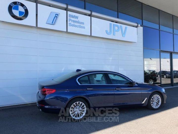BMW Série 5 520dA xDrive 190ch Luxury Mediterranblau metallise Occasion - 3
