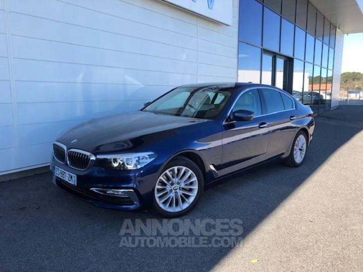 BMW Série 5 520dA xDrive 190ch Luxury Mediterranblau metallise Occasion - 4