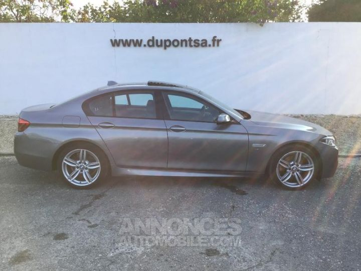 BMW Série 5 520dA xDrive 190ch M Sport GRIS Occasion - 11