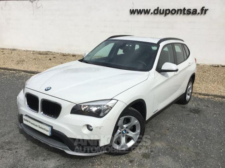 BMW X1 sDrive16dA 116ch Lounge Blanc Occasion - 1