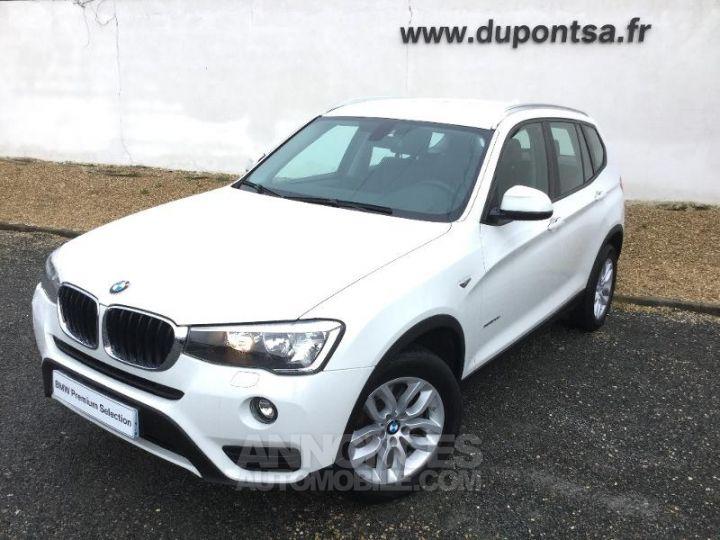 BMW X3 xDrive20dA 190ch Lounge Plus BLANC Occasion - 1