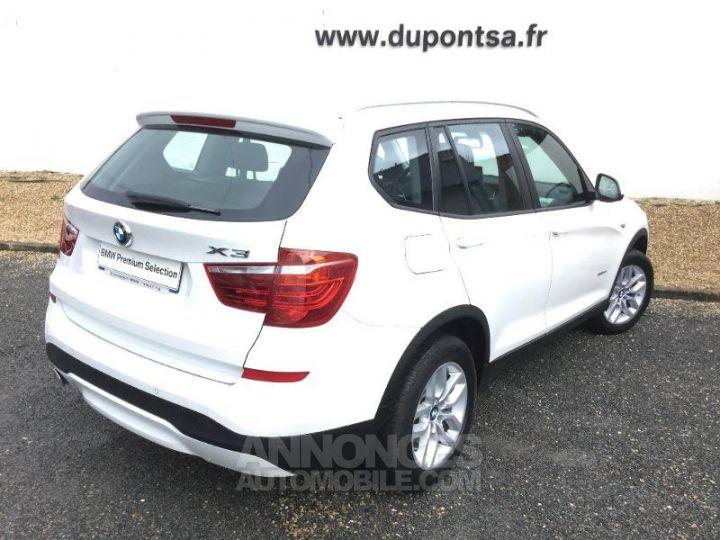 BMW X3 xDrive20dA 190ch Lounge Plus BLANC Occasion - 2