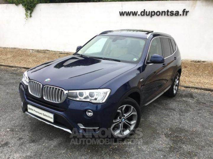BMW X3 xDrive20dA 190ch xLine Tiefseeblau metallisee Occasion - 1