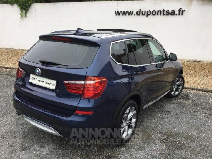 BMW X3 xDrive20dA 190ch xLine Tiefseeblau metallisee Occasion - 2