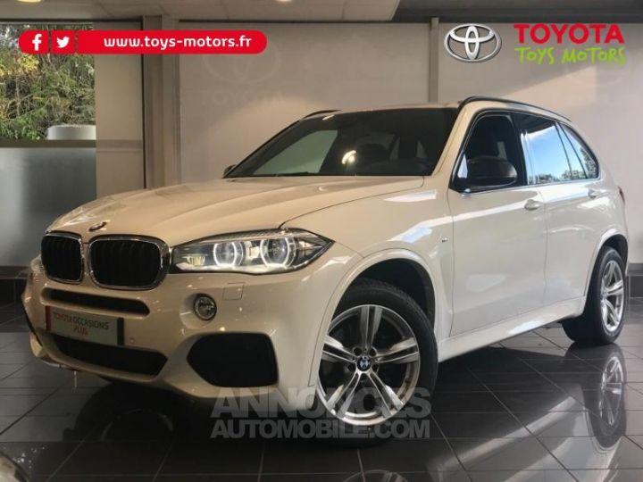 BMW X5 xDrive30dA 258ch M Sport BLANC Occasion - 1