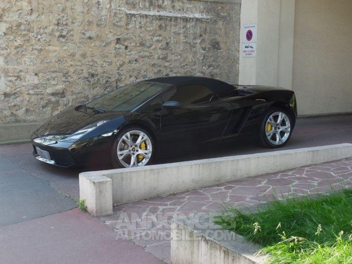 Lamborghini Gallardo Spyder V10 520 E-GEAR NOIR Occasion - 8