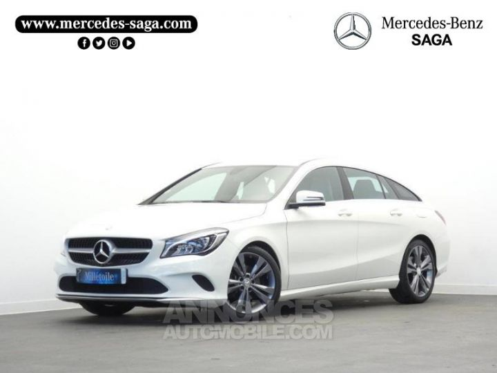 Mercedes CLA Shooting Brake 180 d Sensation Blanc Cirrus Occasion - 1