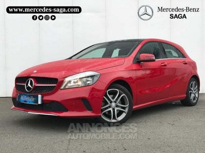 Mercedes Classe A 160 Inspiration 7G-DCT ROUGE Occasion - 1