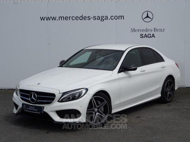 Mercedes Classe C 180 d Sportline 7G-Tronic Plus BLANC POLAIRE Occasion - 1