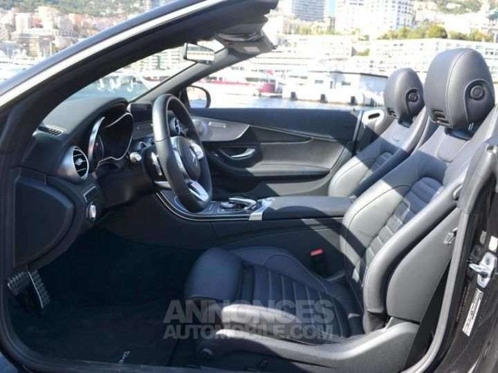 Mercedes Classe C Cabriolet 200 184ch AMG Line 9G-Tronic Euro6d-T Noir Obsidienne Occasion - 19