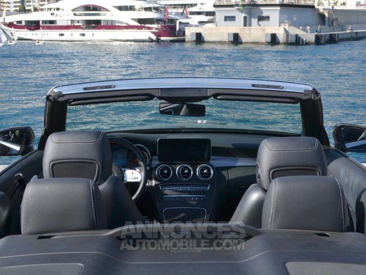 Mercedes Classe C Cabriolet 200 184ch AMG Line 9G-Tronic Euro6d-T Noir Obsidienne Occasion - 20
