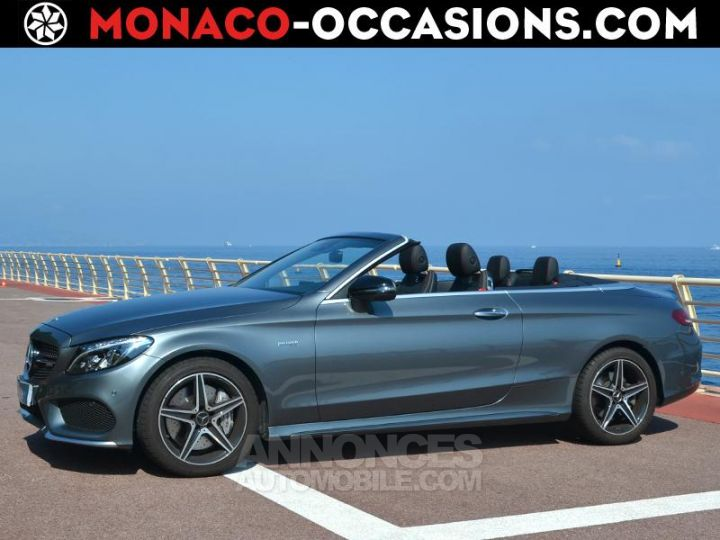 Mercedes Classe C Cabriolet 43 AMG 367ch 4Matic 9G-Tronic Gris Selenite Occasion - 1