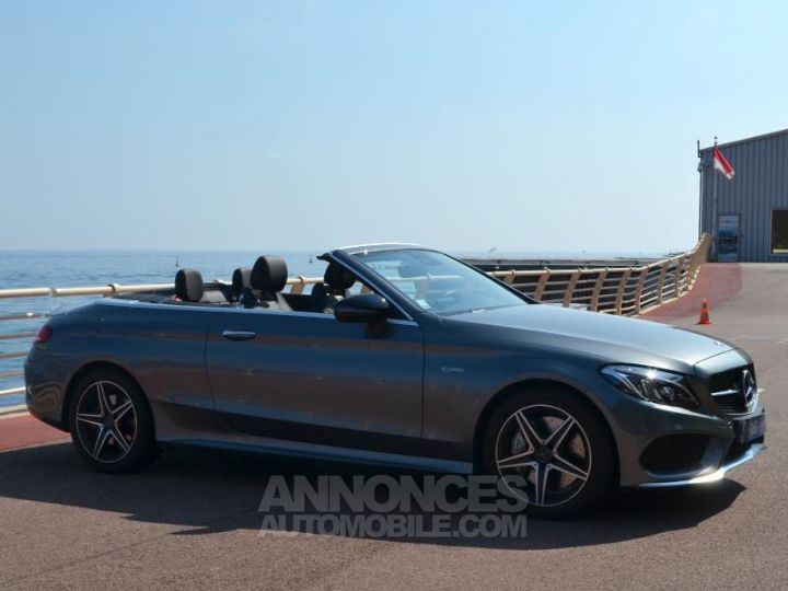 Mercedes Classe C Cabriolet 43 AMG 367ch 4Matic 9G-Tronic Gris Selenite Occasion - 3